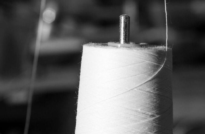 custom sewing close up